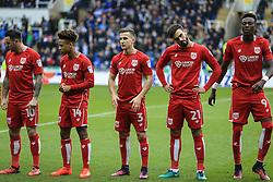 Bristol City line up at the start of the match - Mandatory by-line: Jason Brown/JMP - 26/11/2016 - FOOTBALL - Madejski Stadium - Reading, England - Reading v Bristol City - Sky Bet Championship
