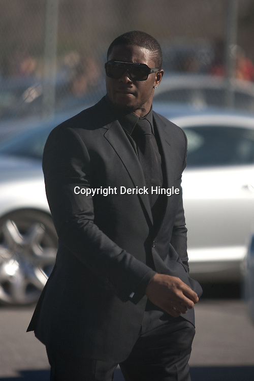 Dec 22, 2009; Westwego, LA, USA;  New Orleans Saints running back Reggie Bush leaves following funeral services for Cincinnati Bengals wide receiver Chris Henry held at the Alario Center. Mandatory Credit: Derick E. Hingle-US PRESSWIRE