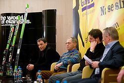 Vodja tekmovalne sluzbe pri Elanu Dusan Blazic na okrogli mizi na temo o realnosti nasih pricakovanj pred olimpijskimi igrami v Vancouvru 2010, izzivih, priloznostih in problematiki v slovenskem alpskem smucanju v organizaciji SportForum Slovenija, 25. januar 2010, Austria Trend Hotel, Ljubljana, Slovenija. (Photo by Vid Ponikvar / Sportida)
