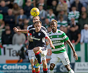 Dundee&rsquo;s Paul McGowan clears from Celtic&rsquo;s Moussa Dembele - Dundee v Celtic in the Ladbrokes Scottish Premiership at Dens Park, Dundee. Photo: David Young<br /> <br />  - &copy; David Young - www.davidyoungphoto.co.uk - email: davidyoungphoto@gmail.com