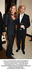 Actress CLAIRE SWEENEY and MR TONY HIBBERD at a party in London on 5th February 2004.PRL 3