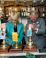 Prince Charles, Prince of Wales and Camilla, Duchess of Cornwall visit The Raven Inn pub in Llanarmon-Yn-Lal