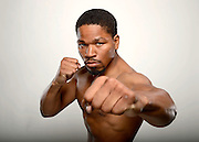 LAS VEGAS, NV - MAY 04:  Boxer Shawn Porter poses during a Golden Boy Promotions portrait session at the MGM Grand Garden Arena on May 4, 2013 in Las Vegas, Nevada.  (Photo by Jeff Bottari/Golden Boy/Golden Boy via Getty Images)