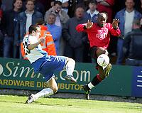 Fotball<br /> England 2004/2005<br /> Foto: SBI/Digitalsport<br /> NORWAY ONLY<br /> <br /> Bury v Swansea City, Gigg Lane Stadium, Bury. <br /> Coca Cola League Two, 07/05/2005. <br /> <br /> Paul Scott and Adrian Forbes