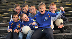 Some of the Young fans from Hollymount Carramore enjoying their team's win over Swinford in the Intermediate championship quarter final in Castlebar on saturday.<br /> Pic Conor McKeown