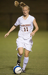 Virginia Cavaliers D/M Becky Sauerbrunn (11)..The #4 ranked Virginia Cavaliers defeated the Liberty Flames 5-0 at Klockner Stadium in Charlottesville, VA on September 21, 2007