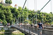 Pedestrian Bridge Passau, Lower Bavaria, Germany, City of three rivers