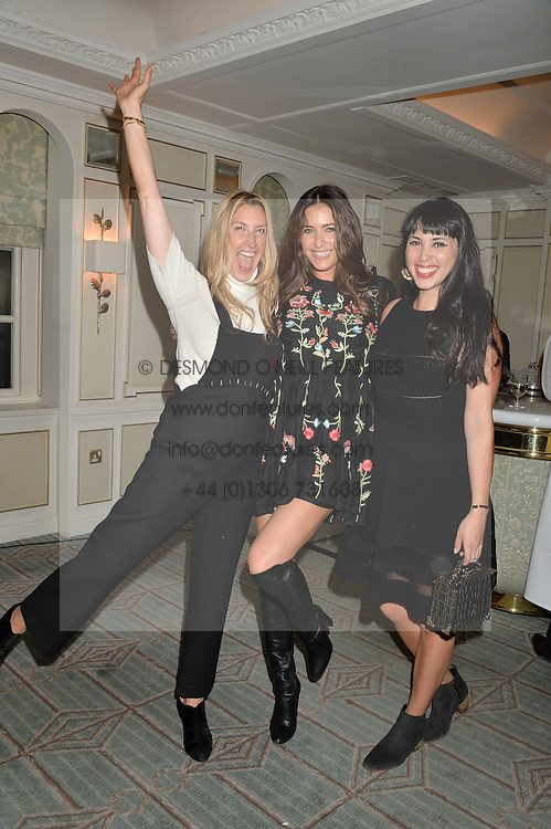 Left to right, GEORGINA COHEN, LISA SNOWDON and MELISSA HEMSLEY at a party hosted by Ewan Venters CEO of Fortnum & Mason to celebrate the launch of The Cook Book by Tom Parker Bowles held at Fortnum & Mason, 181 Piccadilly, London on 18th October 2016.