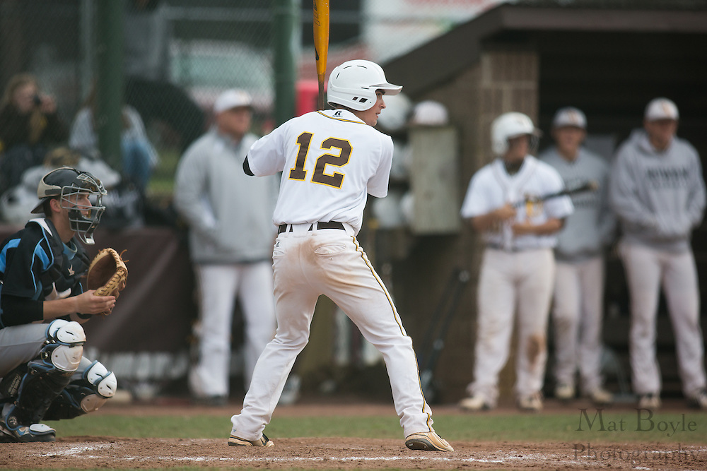 Rowan University Junior Infielder/Outfielder Mark Benak (12) - Richard Stockton College Baseball at Rowan University at Rowan University in Glassboro, NJ on Thursday April 4, 2013. (photo / Mat Boyle)