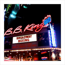 """Broadway Boxing"" in NYC."