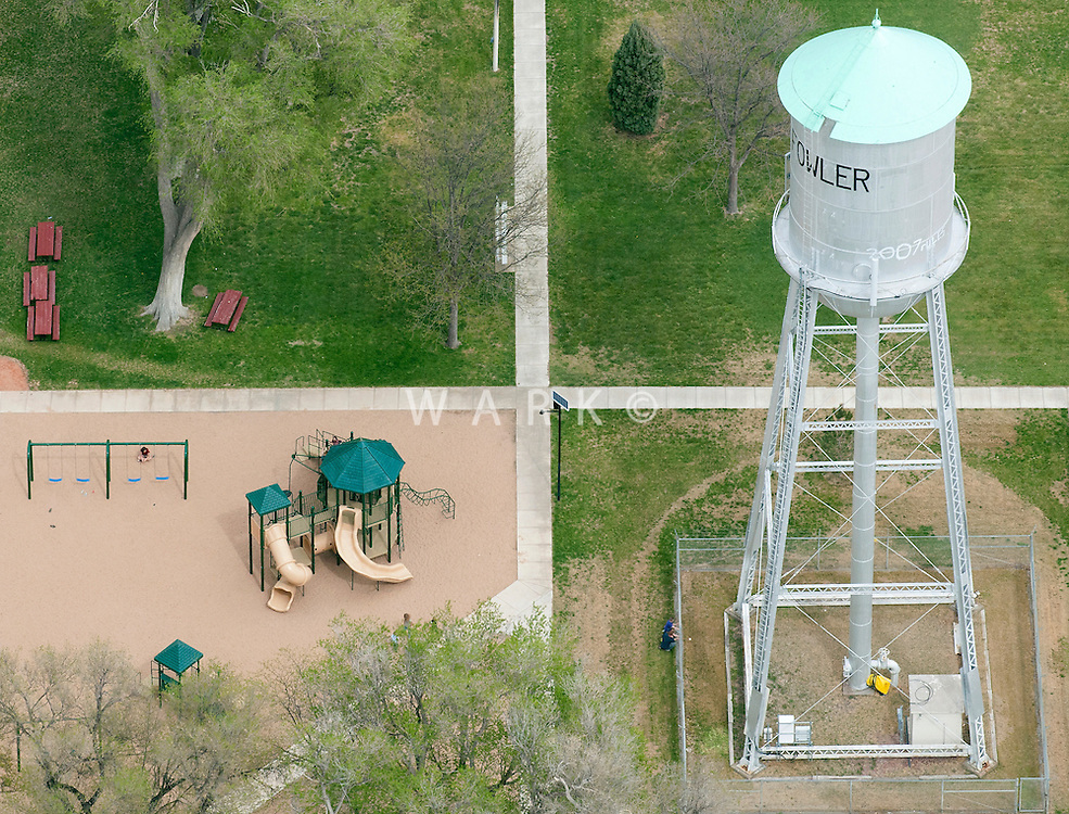 Fowler, Colorado water tower and playground