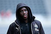 Mohamed Diame (#10) of Newcastle United arrives ahead of the Premier League match between Newcastle United and Brighton and Hove Albion at St. James's Park, Newcastle, England on 30 December 2017. Photo by Craig Doyle.