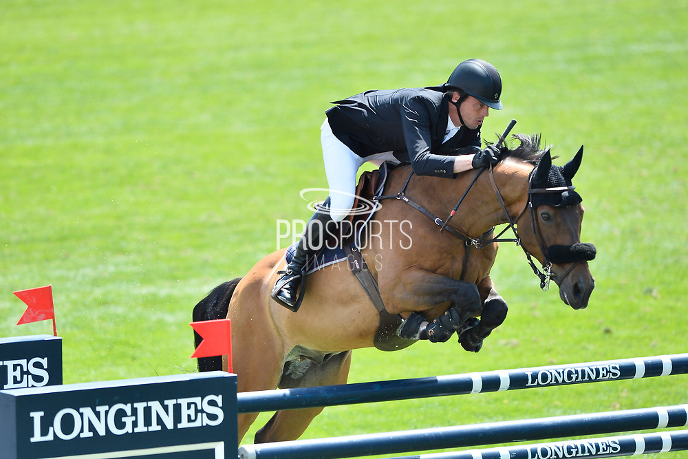 Harrie SMOLDERS (NED) riding ZINIUS during the International Show Jumping of La Baule 2018 (Jumping International de la Baule), on May 18, 2018 in La Baule, France - Photo Christophe Bricot / ProSportsImages / DPPI