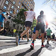 NYTRUN - NOV. 6, 2016 - NEW YORK - Runners in the 2016 TCS New York City Marathon head down 5th Ave. on Sunday afternoon. NYTCREDIT:  Karsten Moran for The New York Times