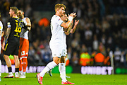 Leeds United defender Gaetano Berardi (28) reacts to winning 1-0 on his birthday during the EFL Sky Bet Championship match between Leeds United and Brentford at Elland Road, Leeds, England on 21 August 2019.