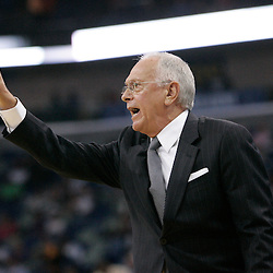 Apr 07, 2010; New Orleans, LA, USA; Charlotte Bobcats head coach Larry Brown instructs his team during the first half against the New Orleans Hornets at the New Orleans Arena. Mandatory Credit: Derick E. Hingle-US PRESSWIRE