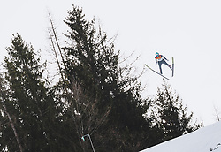 16.02.2020, Kulm, Bad Mitterndorf, AUT, FIS Ski Flug Weltcup, Kulm, Herren, 1. Wertungsdurchgang, im Bild Michael Hayboeck (AUT) // Michael Hayboeck of Austria during his 1st Competition Jump for the men's FIS Ski Flying World Cup at the Kulm in Bad Mitterndorf, Austria on 2020/02/16. EXPA Pictures © 2020, PhotoCredit: EXPA/ JFK