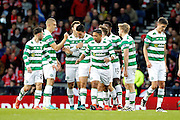 Celtic's players celebrate Tomas Rogic (18) opening goal during the Betfred Scottish Cup  Final match between Aberdeen and Celtic at Hampden Park, Glasgow, United Kingdom on 27 November 2016. Photo by Craig Galloway.