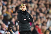 Wales Women's coach Jayne Ludlow during the FIFA Women's World Cup UEFA Qualifier match between England Ladies and Wales Women at the St Mary's Stadium, Southampton, England on 6 April 2018. Picture by Graham Hunt.