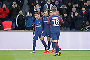 Kylian Mbappe (PSG) scored a goal, celebration, Neymar da Silva Santos Junior - Neymar Jr (PSG), Edinson Roberto Paulo Cavani Gomez (psg) (El Matador) (El Botija) (Florestan), Giovani Lo Celso (PSG) during the French championship L1 football match between Paris Saint-Germain (PSG) and Dijon, on January 17, 2018 at Parc des Princes, Paris, France - Photo Stephane Allaman / ProSportsImages / DPPI