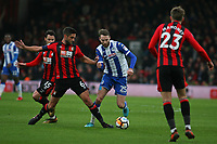Football - 2017 / 2018 FA Cup - Third Round : AFC Bournemouth vs. Wigan Athletic<br /> <br /> Bournemouth's Andrew Surman tackles Nick Powell of Wigan Athletic at Dean Court (Vitality Stadium) Bournemouth <br /> <br /> COLORSPORT/SHAUN BOGGUST