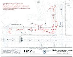 Taxiway 'J, S, U' Rehabilitation at Bradley International Airport. CT DOT Project # 165-481. Progress Construction View, Submission Two, Construction Progress, June 17, 2015. Key Plan