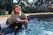Kai Krause, Software Entrepreneur, and the pool of his home in Montecito, California. Model Released, (1997).