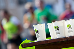 Cups and athletes in background during 22nd Ljubljana Marathon 2017 on October 29, 2017 in Ljubljana, Slovenia. Photo by Matic Klansek Velej / Sportida