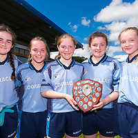 Members of the Cooraclare/Cree/Clohanbeg team, winners of Division 2 at the Clare Primary Schools Ladies Football Finals at Cusack Park, Ennis, Co. Clare