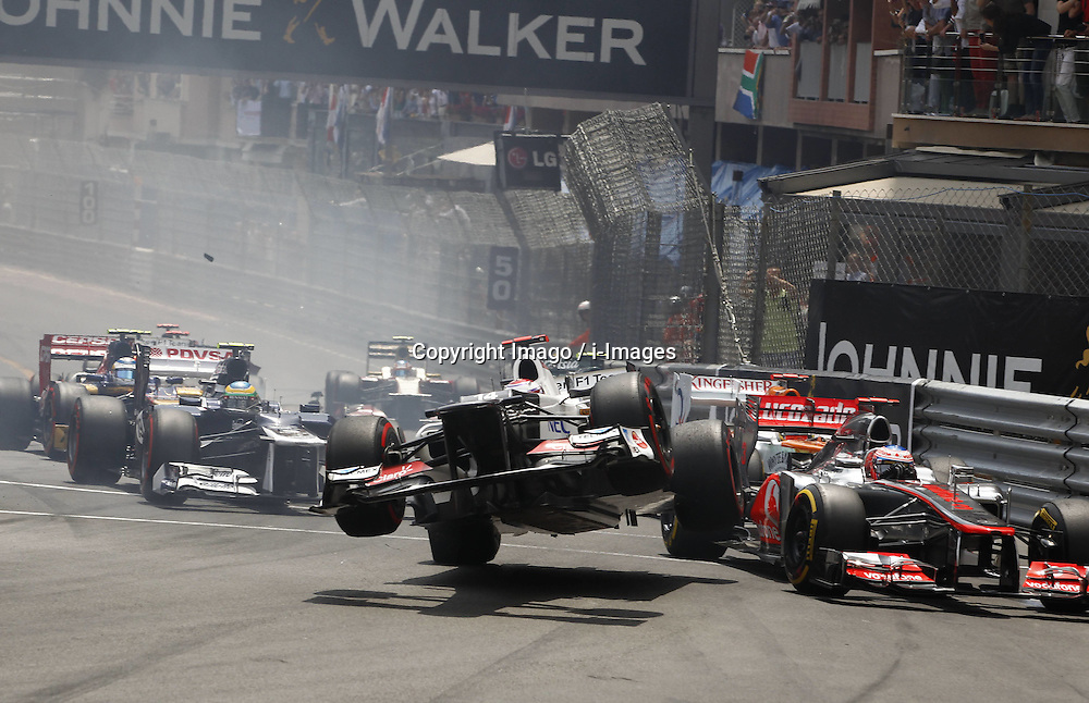 Crash of Kamui Kobayashi at  Monaco Grand Prix, Sunday, 27th May 2012.   Photo by: Imago / i-Images