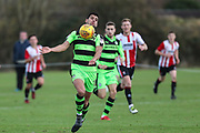 Forest Green Rovers Omar Bugiel(11) controls the ball during the The Central League match between Cheltenham Town Reserves and Forest Green Rovers Reserves at The Energy Check Training Ground, Cheltenham, United Kingdom on 28 November 2017. Photo by Shane Healey.