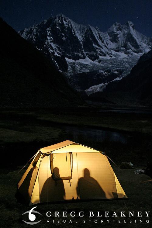 Late Night Poker - Cordillera Huayhuash - Peruvian Andes - South America