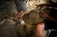 Making traditional pottery in Vigan.<br />