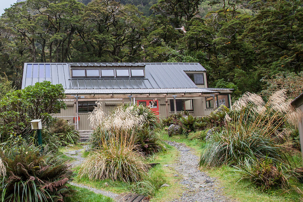 Mintaro Hut - the oldest of the three - all in one with a large kitchen and two small bunk rooms on the ground floor and a large bunkroom on the top floor. We managed to get beds in the ground floor bunk room and slept warm and soundly...