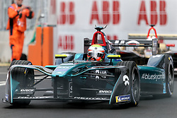 April 28, 2018 - Paris, Ile-de-France, France - Britain's Oliver Turvey of the Formula E team NIO competes during the practice session of the French stage of the Formula E championship around The Invalides Monument close to The Eiffel Tower in Paris on April 28, 2018. (Credit Image: © Michel Stoupak/NurPhoto via ZUMA Press)