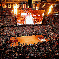 10 June 2016: General view of the Quicken Loans Arena during the Golden State Warriors 108-97 victory over the Cleveland Cavaliers, during Game Four of the 2016 NBA Finals at the Quicken Loans Arena, Cleveland, Ohio, USA.