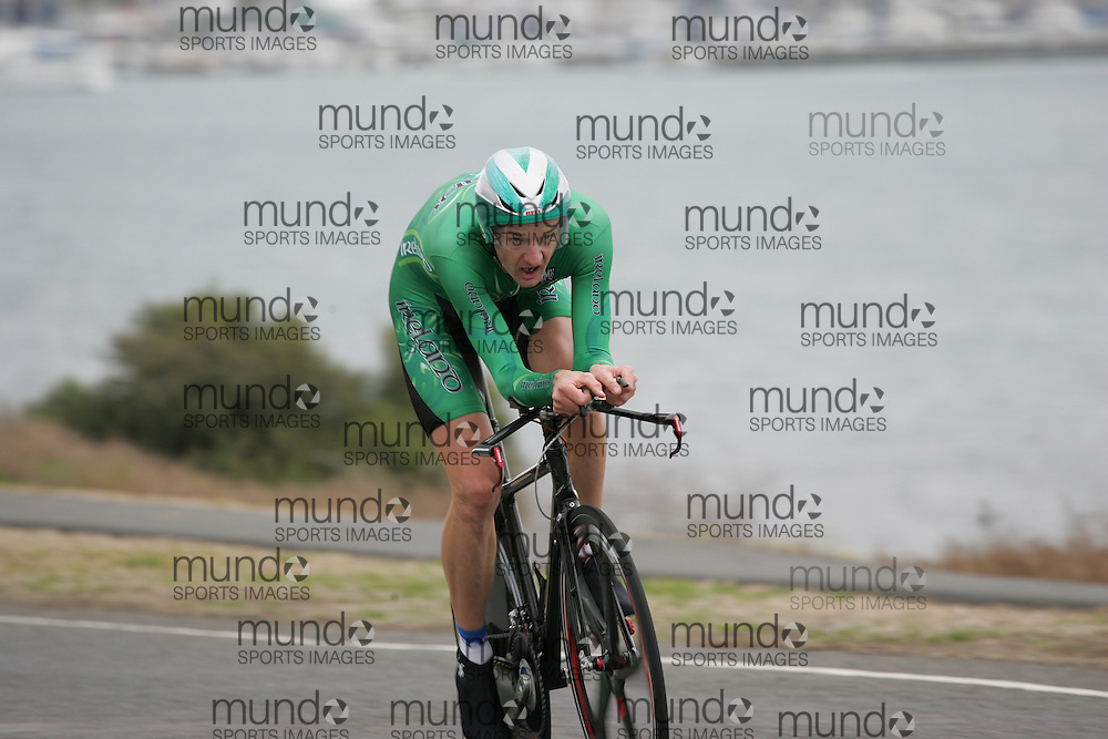 (Geelong, Australia---30 September 2010) DAvid Mc CANN of Ireland (IRL) racing to 25th place in the Elite Men's Time Trial race at the 2010 UCI Road World Championships [2010 Copyright Sean Burges / Mundo Sport Images -- www.mundosportimages.com]