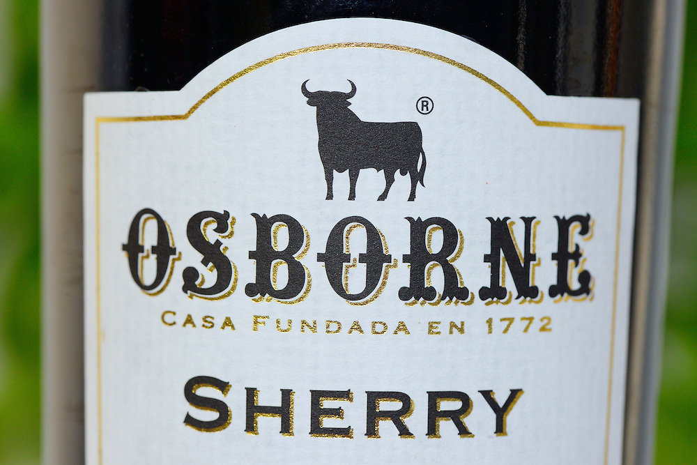 Osborne sherry, with the Osborne logo being a fighting bull, resembling the aurochs, Spain