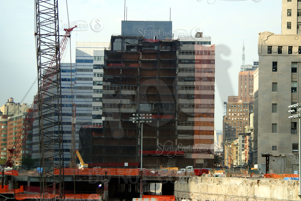 Aug 16, 2002; New York, NY, USA; Details at Ground Zero showing the half demolished buildings almost one year later.  Mandatory Credit: Photo by Shelly Castellano/ZUMA Press. (©) Copyright 2002 by Shelly Castellano