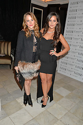 Left to right, ROSIE FORTESCUE and ROXIE NAFOUSI at the Tatler Little Black Book Party held at Home House Private Member's Club, Portman Square, London supported by CARAT on 6th November 2014.