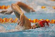 Jordan Rahurahu, New Zealand Open Swimming Champs, Day 1, West Wave Aquatic Center, Waitakere, Auckland. 14 April 2015. Copyright Photo: William Booth / www.photosport.co.nz