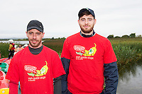 Kieran Cosgrove Turloughmore  and Jack Hastings Renmore who took part in the 26th amphicat row in aid of  The Irish Guide Dogs for the Blind, on the Corrib <br /> . Photo: xposure.