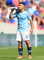 Manchester City's Sergio Aguero during the Community Shield match at Wembley Stadium, London.