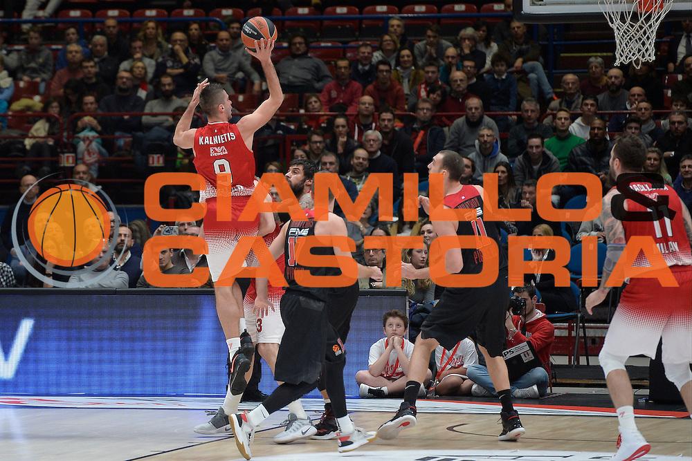 Kalnietis Mantas<br /> EA7 Emporio Armani Olimpia Milano - Olympiacos Piraeus<br /> Euroleague 2016/2017<br /> Milano 25/01/2017<br /> Foto Ciamillo-Castoria