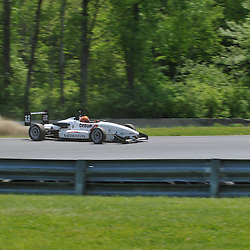 May 23, 2009; Lakeville, CT, USA; Jonathan Scarallo re-joins the track after a spin during qualifying for the Formula 2000 Championship Series competition during the Memorial Day Road Racing Classic weekend at Lime Rock Park.