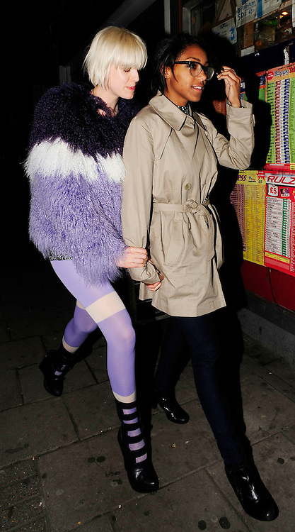 24.FEB.2009 - LONDON<br /> <br /> AGYNESS DEYN AND REMI NICOLE LEAVING QUAGLINO'S AFTER ATTENDING HENRY HOLLAND'S HOUSE OF HOLLAND AFTERPARTY AND THEN WENT TO THE SHOPS FOR A PACKET OF CRISPS.<br /> <br /> BYLINE: EDBIMAGEARCHIVE.COM<br /> <br /> *THIS IMAGE IS STRICTLY FOR UK NEWSPAPERS AND MAGAZINES ONLY*<br /> *FOR WORLD WIDE SALES AND WEB USE PLEASE CONTACT EDBIMAGEARCHIVE - 0208 954 5968*