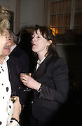 Rebecah Fraser, 1812 Napoleon's Fatal March on Moscow by Adam Zamoyski book launch. Avenue Studios. Fulham Rd. 5 April 2004. ONE TIME USE ONLY - DO NOT ARCHIVE  © Copyright Photograph by Dafydd Jones 66 Stockwell Park Rd. London SW9 0DA Tel 020 7733 0108 www.dafjones.com