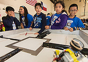 "Houston ISD students participate in the ""Games Robots Play"" competition at Lamar High School, April 2, 2016."