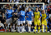Photo: Glyn Thomas.<br />Birmingham City v Torquay United. The FA Cup. 17/01/2006.<br />Birmingham celebrate going 1-0 up, thanks to a goal from Jiri Jarosik (L).