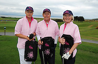 Helen O'Flaherty, Orla Shields  and Mary Kelly from Galway Bay Golf Club at the Galway Golf Club for the AIB Ladies Irish Open Club Challenge qualifier..Photo:Andrew Downes